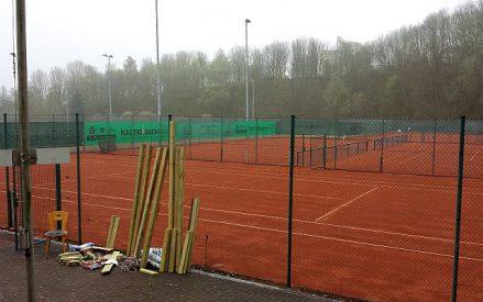 Anlagenvorbereitung der Tennisabteilung